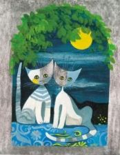 Cat couple at full moon by Rosina Wachtmeister http://www.easyart.com/scripts/zoom/zoom.pl?pid=145170