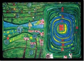 Hundertwasser - Verdure pour ceux qui pleurent la campagne