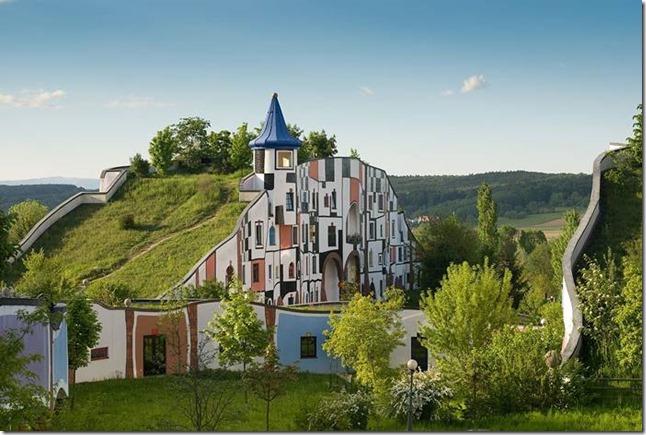 Hundertwasser - village thermal de Blumau