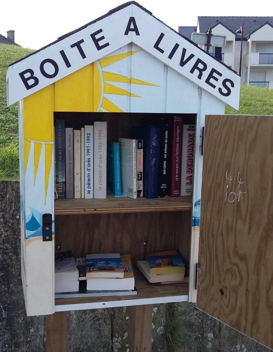 Boite à livres Croisic ouverte