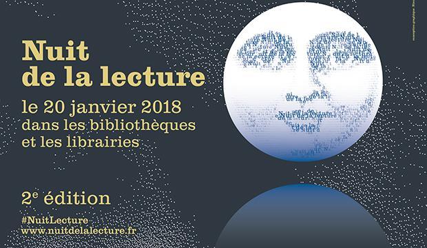 Affiche Nuit lecture 2018 620x360cm - repiquable