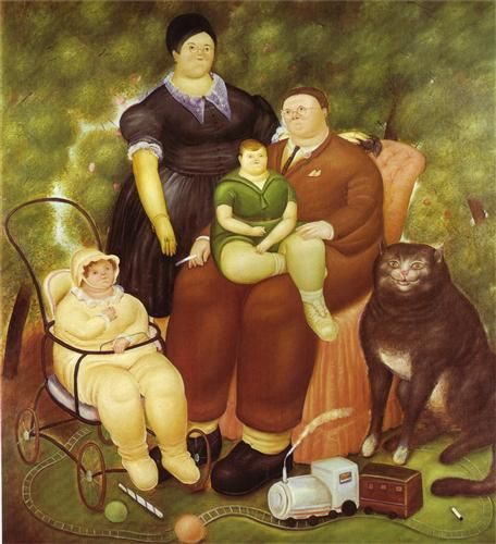 famille chat botero
