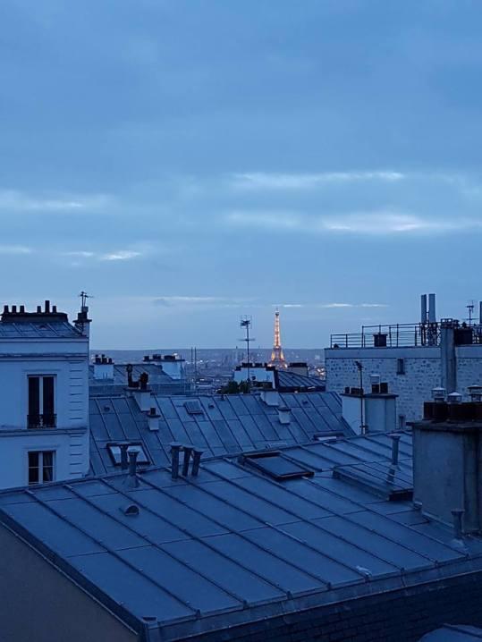 tour Eiffel toit de Paris