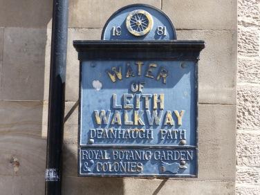 plaque walkway of leith
