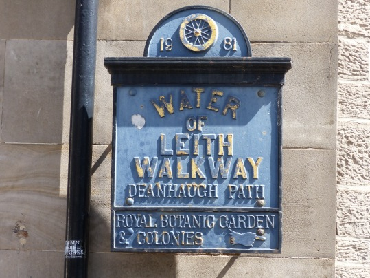 plaque walkway of leith