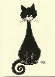 bae8e36bad2b874fe51be5b3886f56d1--cat-art-albert-dubout