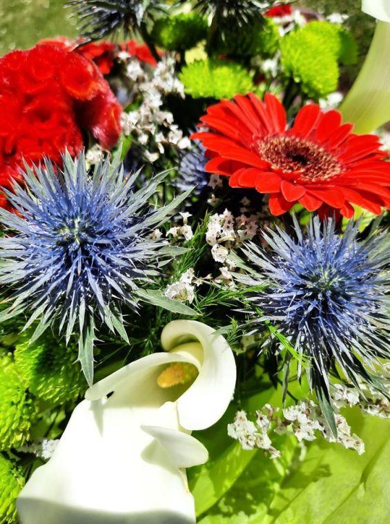 bouquet bleu blanc rouge